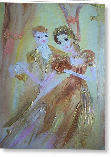 Romantic Encounter Greeting Card by Judith Desrosiers