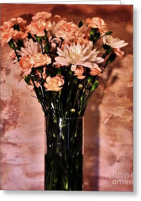 Glass Vase Greeting Cards - Romantic Evening Greeting Card by Marsha Heiken