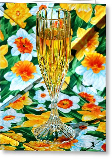 Romantic Gold Greeting Card by LeeAnn McLaneGoetz McLaneGoetzStudioLLCcom