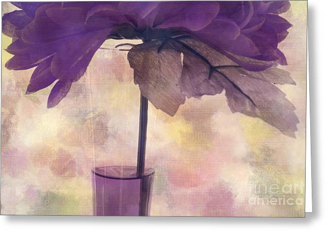 Floral Still Life Greeting Cards - Romantisme - s0304d Greeting Card by Variance Collections