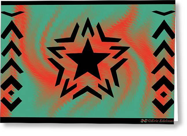 Pentagram Art Greeting Cards - Romare Bearden Star Greeting Card by Eric Edelman