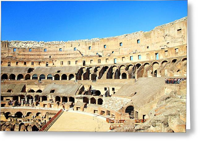 Rome Coliseum Greeting Card by Valentino Visentini