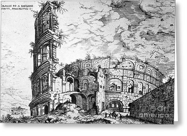 1555 Greeting Cards - ROME: COLOSSEUM, c1555 Greeting Card by Granger