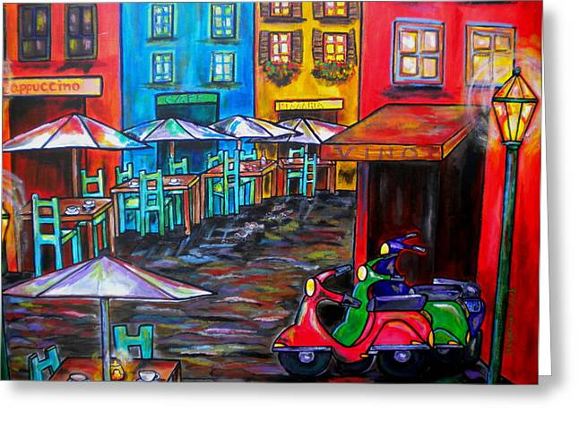 Scooter Greeting Cards - Rome in Twilight Greeting Card by Patti Schermerhorn