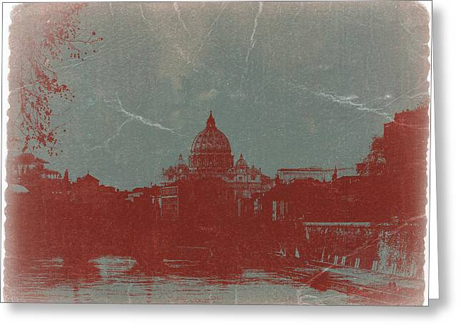 Old Digital Greeting Cards - Rome Greeting Card by Naxart Studio