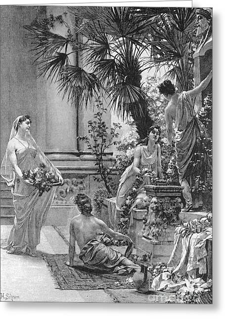 Patrician Greeting Cards - Rome: Patrician Home Greeting Card by Granger