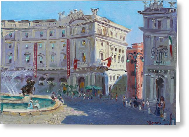 Rome Greeting Cards - Rome Piazza Republica Greeting Card by Ylli Haruni