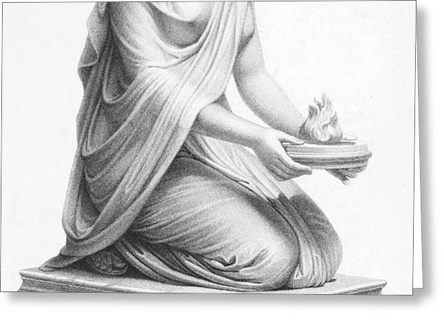 ROME: VESTAL VIRGIN Greeting Card by Granger