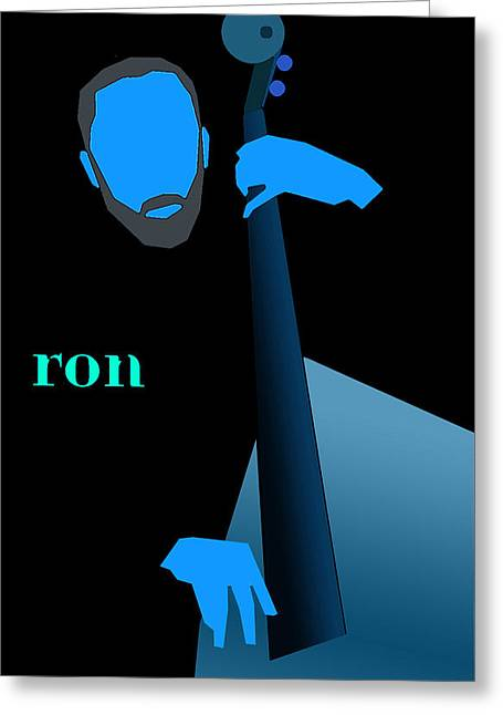 Ron Carter Blue Greeting Card by Victor Bailey