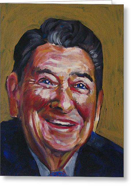 1980s Greeting Cards - Ronald Reagan Greeting Card by Buffalo Bonker