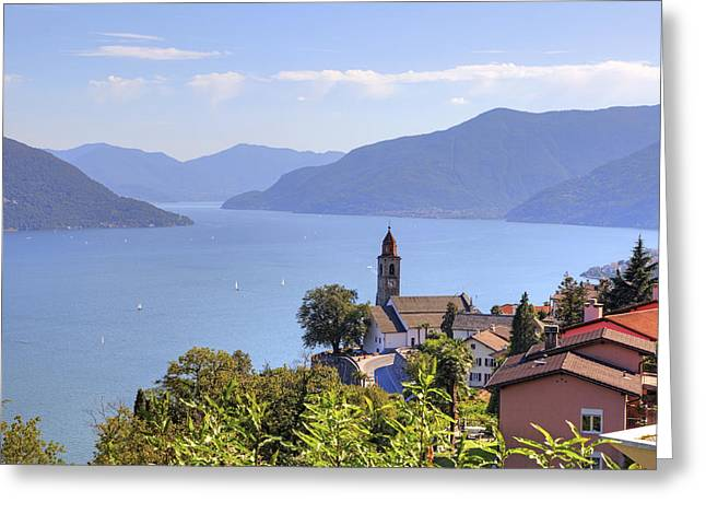 Village Views Greeting Cards - Ronco sopra Ascona Greeting Card by Joana Kruse