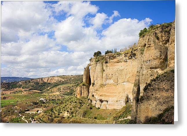 Southern Province Greeting Cards - Ronda Cliffs in Andalusia Greeting Card by Artur Bogacki
