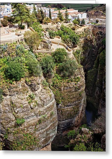 Pueblo Blanco Greeting Cards - Ronda in Andalucia Greeting Card by Artur Bogacki