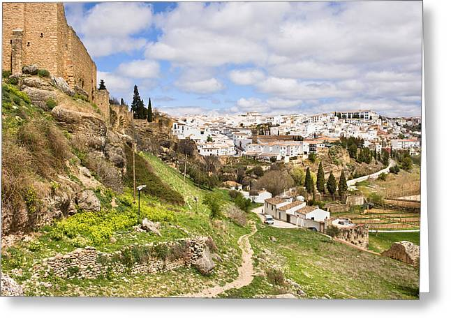 Mediterranean Village Greeting Cards - Ronda Town in Andalucia Greeting Card by Artur Bogacki