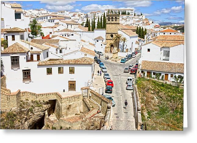 Pueblo Blanco Greeting Cards - Ronda Town in Andalusia Greeting Card by Artur Bogacki