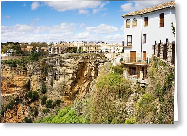 Pueblo Blanco Greeting Cards - Ronda Town in Spain Greeting Card by Artur Bogacki