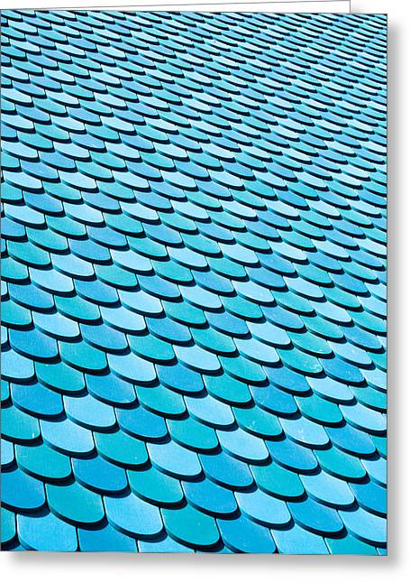 Abstract Style Greeting Cards - Roof panels Greeting Card by Tom Gowanlock
