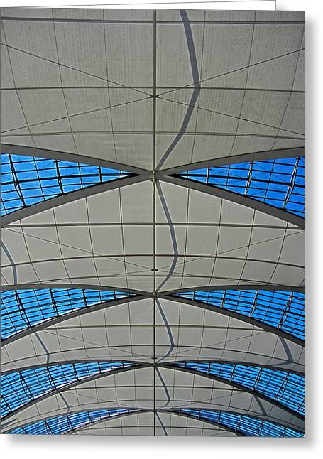 Muenchen Greeting Cards - Roof Structure ... Greeting Card by Juergen Weiss