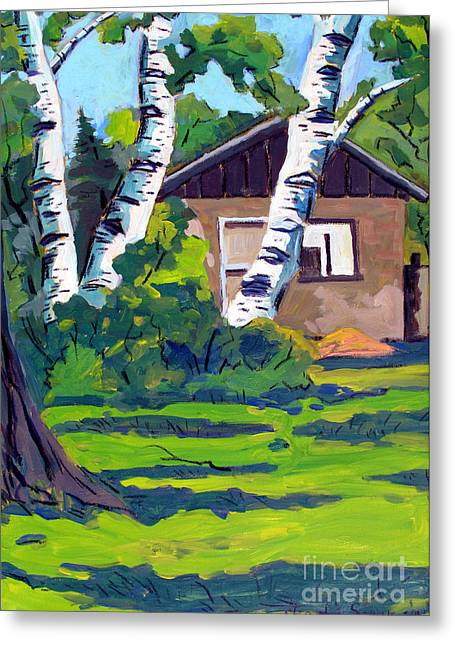 Landsape Greeting Cards - Roofless Hoosier Hills Orchard Greeting Card by Charlie Spear