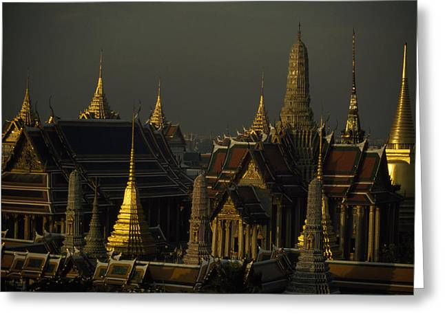 Indochinese Architecture And Art Greeting Cards - Roofs, Spires, And Steeples Greeting Card by Paul Chesley