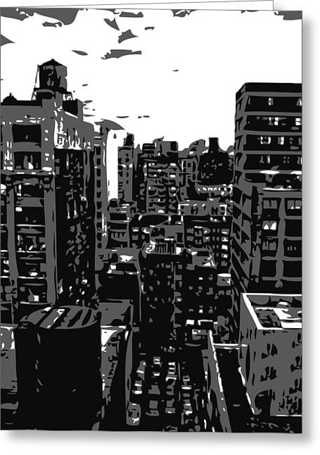 Rooftop Bw3 Greeting Card by Scott Kelley