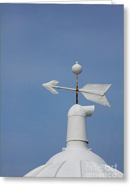 Wind Vane Greeting Cards - Rooftop of lighthouse Greeting Card by Gabriela Insuratelu