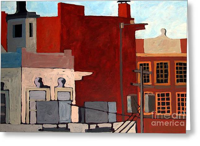 Rooftops Greeting Card by Charlie Spear