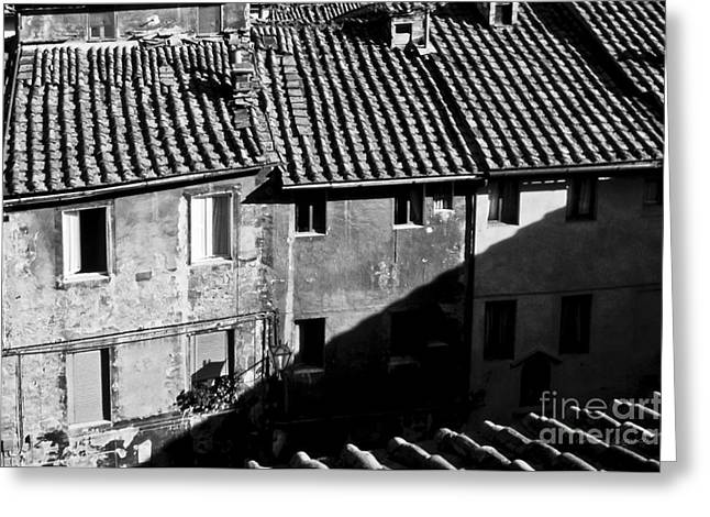 Wall Street Greeting Cards - Rooftops of Siena Italy Greeting Card by Gordon Wood