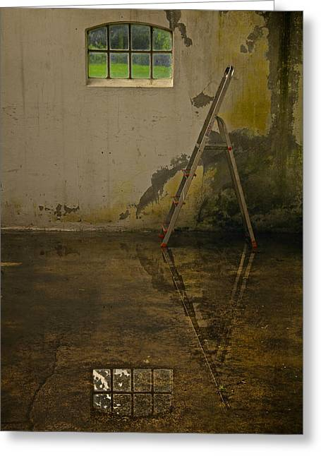Step Ladder Greeting Cards - Room For Reflection Greeting Card by Odd Jeppesen