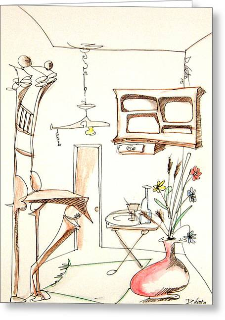 Denny Casto Greeting Cards - Room Plus Still Life Greeting Card by Denny Casto
