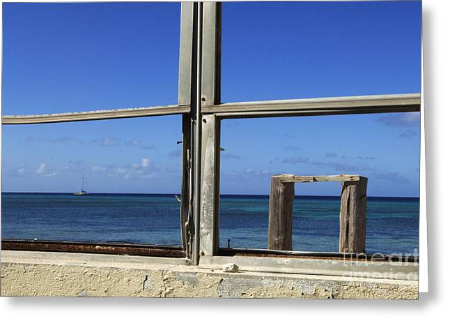 Caribbean Architecture Greeting Cards - Room With A View Greeting Card by Bob Christopher