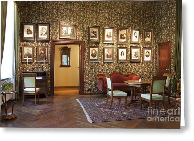 Fashion Photograph Greeting Cards - Room With Framed Portraits Greeting Card by Jaak Nilson