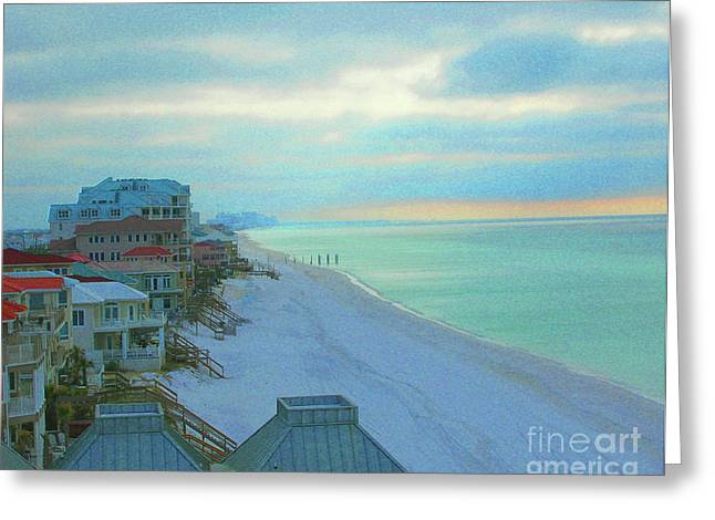 Florida Panhandle Digital Art Greeting Cards - Rooms  with a View Greeting Card by Lizi Beard-Ward