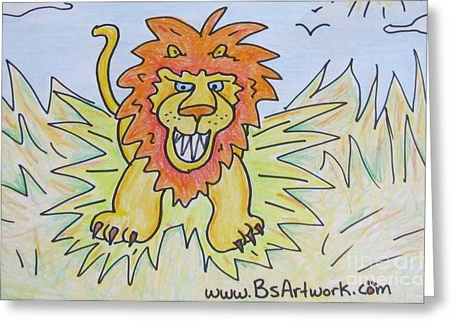 Lioness Greeting Cards - Roooaaahhrrrr Greeting Card by Bruce Semon