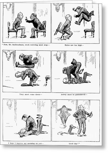 Roosevelt Cartoon, 1905 Greeting Card by Granger