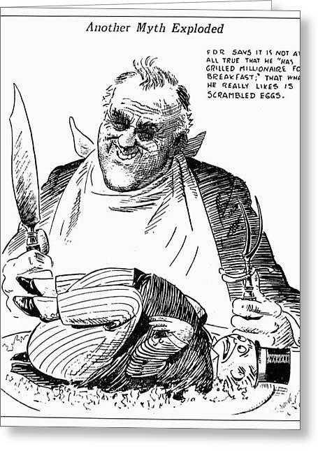 Franklin Roosevelt Greeting Cards - Roosevelt Cartoon, 1938 Greeting Card by Granger