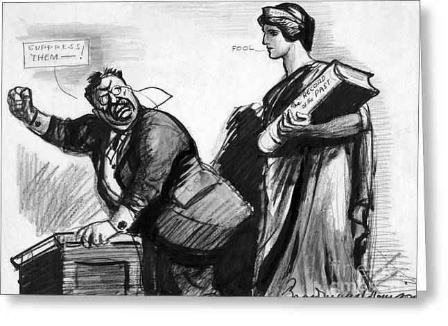 Political Allegory Greeting Cards - ROOSEVELT CARTOON, c1916 Greeting Card by Granger
