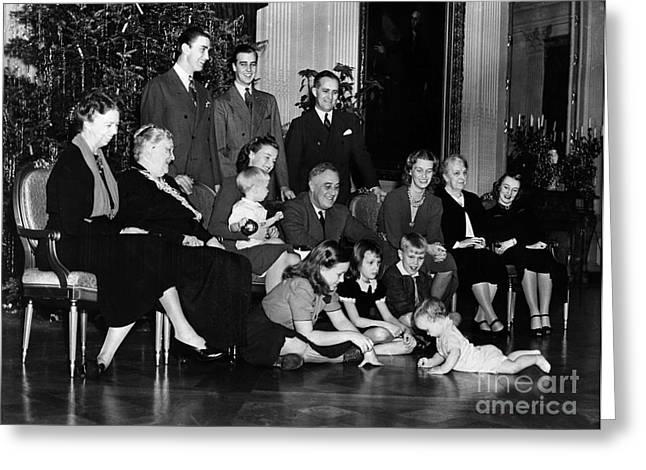 Franklin Roosevelt Greeting Cards - Roosevelt: Family, 1939 Greeting Card by Granger