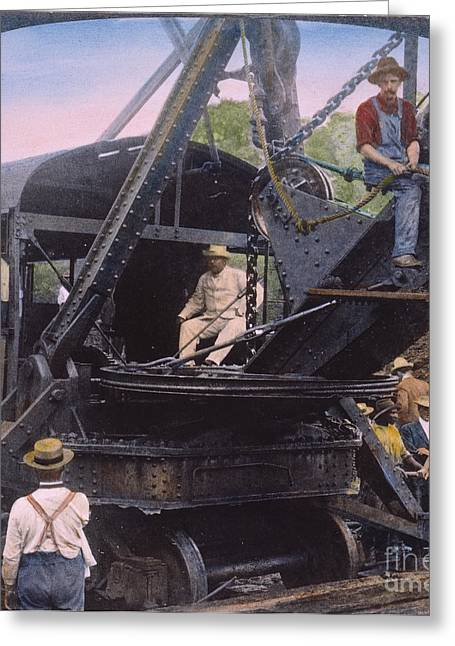 Suspenders Greeting Cards - Roosevelt: Panama Canal Greeting Card by Granger