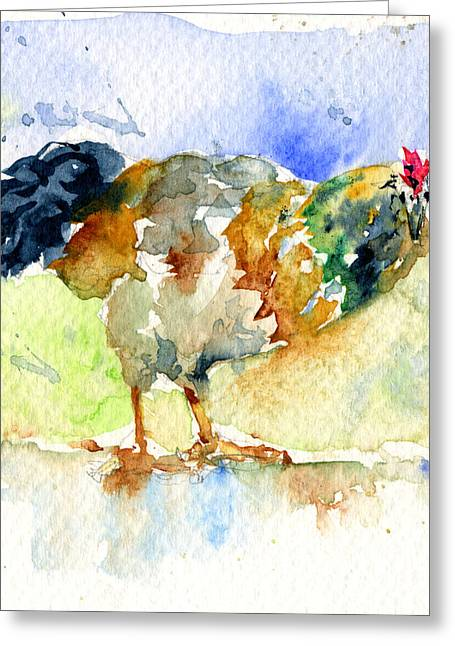 Rooster 1 Greeting Card by John D Benson
