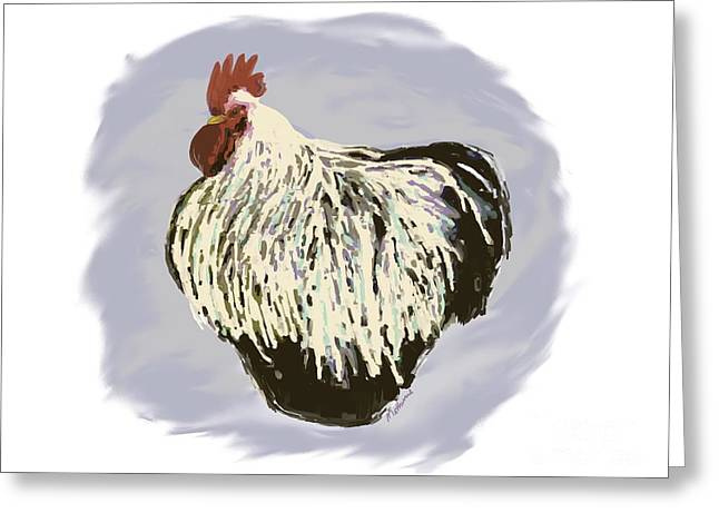 Digital Art Pastels Greeting Cards - Rooster Greeting Card by Methune Hively