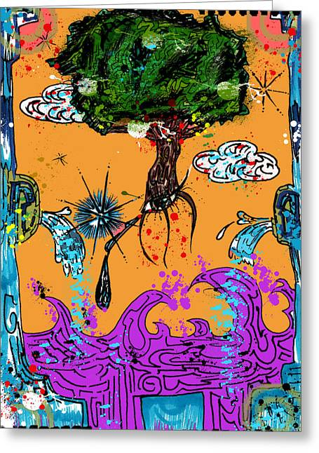 Tree Roots Mixed Media Greeting Cards - Rooted Envisionary Greeting Card by Eleigh Koonce