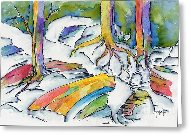 Pause Greeting Cards - Roots And Rocks Greeting Card by Pat Katz
