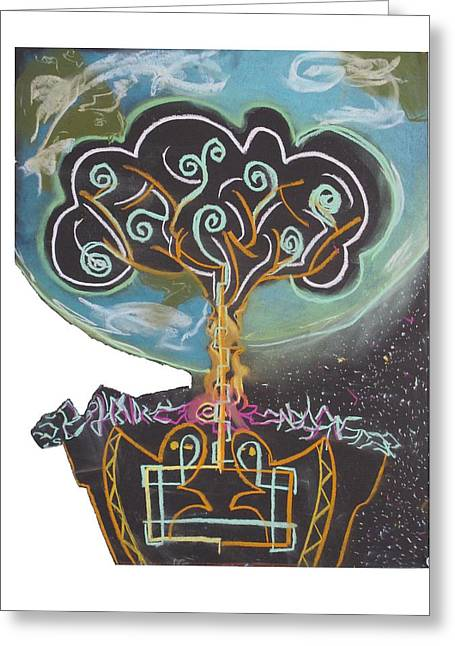 Interstellar Space Pastels Greeting Cards - Roots Grow Deep Greeting Card by Casey P