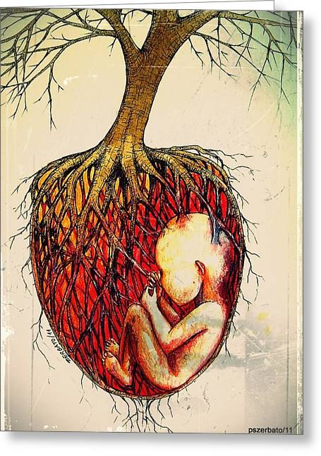 Liberation Digital Art Greeting Cards - Roots Of Mother Nature Greeting Card by Paulo Zerbato