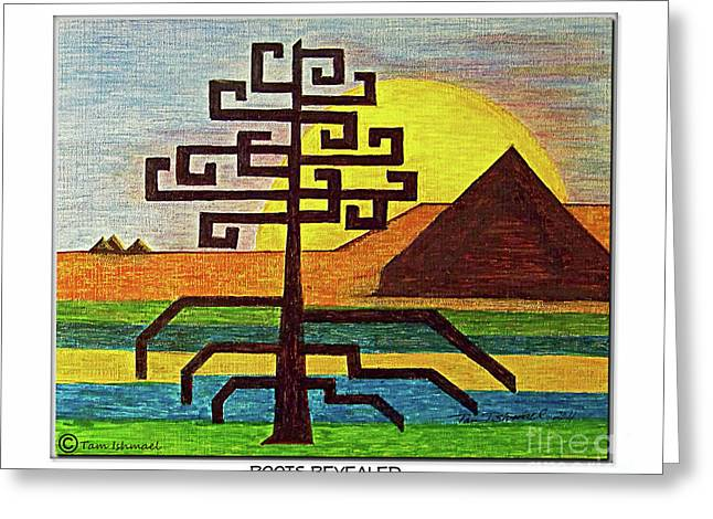 Tree Roots Mixed Media Greeting Cards - Roots Revealed Greeting Card by Tam Ishmael - Eizman