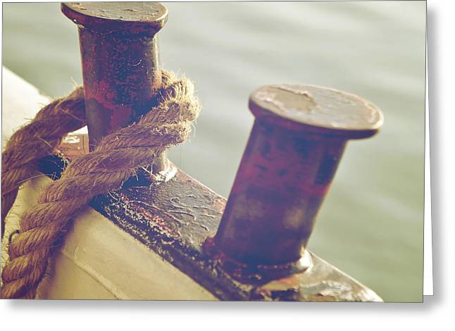 Ships Detail Greeting Cards - Rope Greeting Card by Joana Kruse