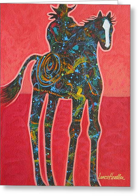 Arizona Contemporary Cowboy Greeting Cards - Rope One Greeting Card by Lance Headlee
