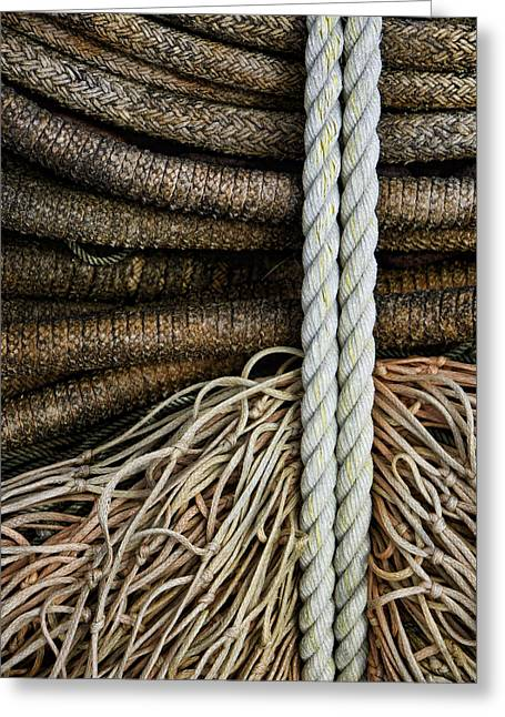 Pacific Northwest Greeting Cards - Ropes and Fishing Nets Greeting Card by Carol Leigh