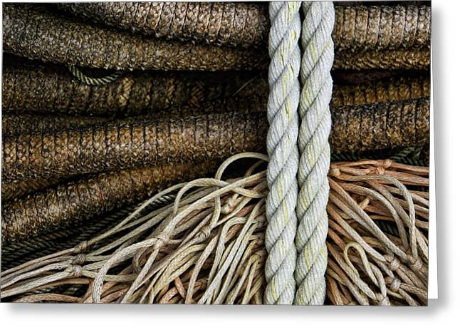 Ropes and Fishing Nets Greeting Card by Carol Leigh